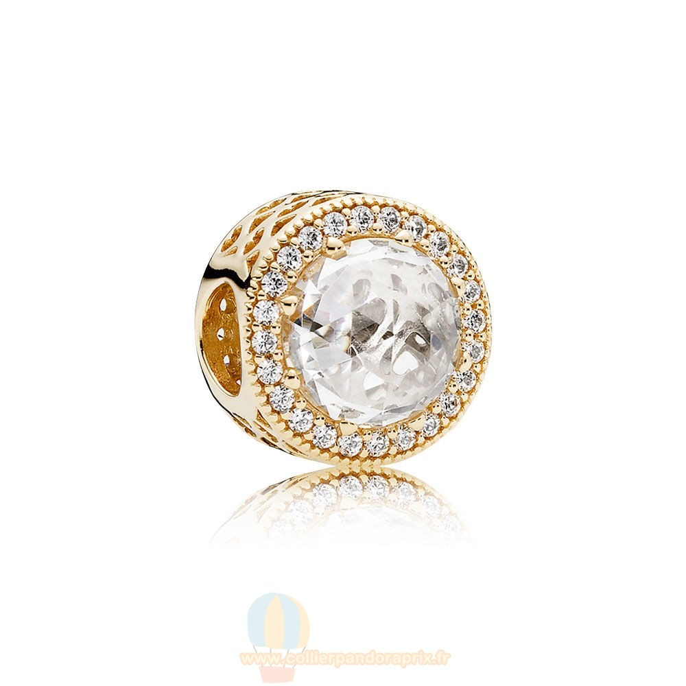 Populaire Pandora Pandora Collections Radiant Coeurs Charme 14K Or Clear Cz