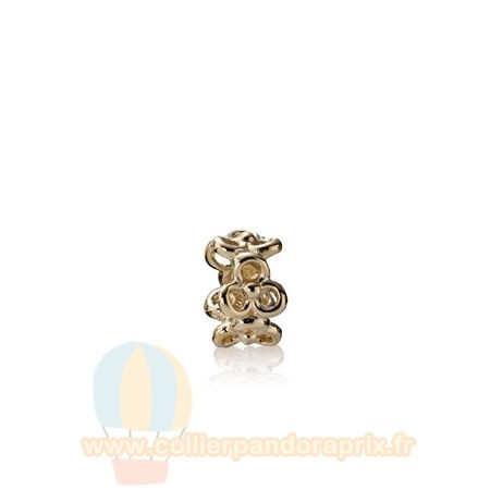 Populaire Pandora Pandora Collections Trinity Fleurs Spacer 14K Or