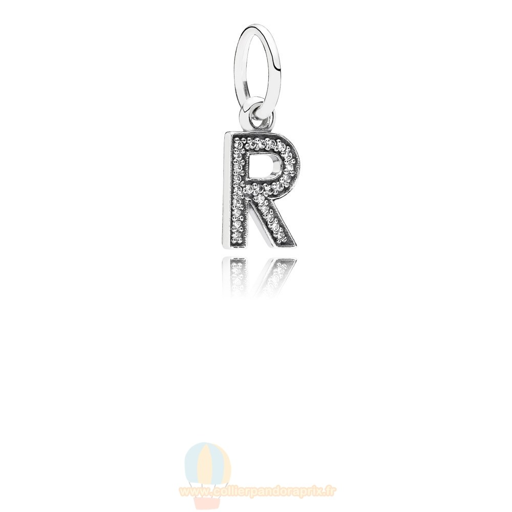 Populaire Pandora Pandora Alphabet Symbols Charms Lettre R Dangle Charm Clear Cz
