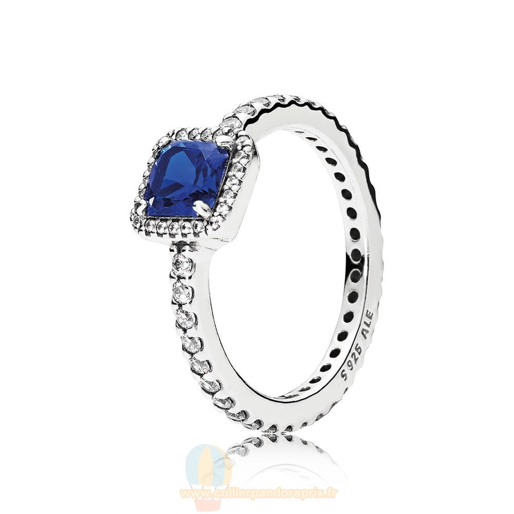 Populaire Pandora Bagues Elegance Intemporelle True Blue Crystal Clear Cz