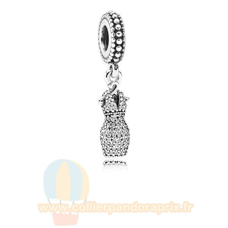 Populaire Pandora Danglees Dazzling Robe Dangle Clear Cz