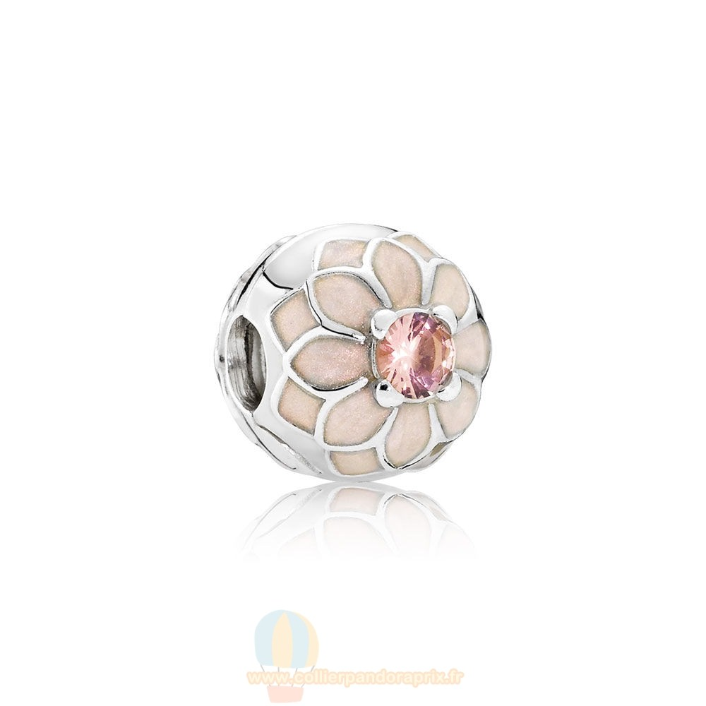 Populaire Pandora Pandora Clips Breloques Blooming Dahlia Clip Creme Email Blush Rose Crystal