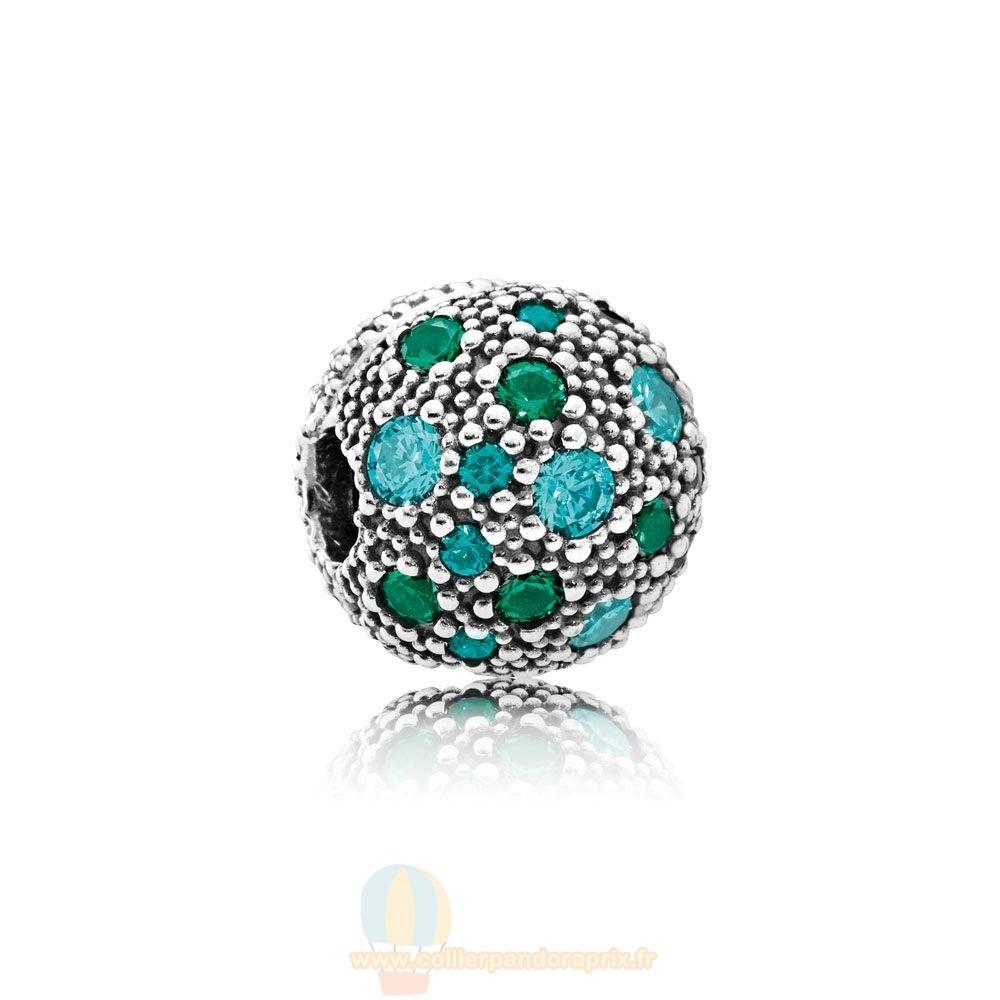 Populaire Pandora Pandora Toucher De Couleur Charms Cosmic Etoiles Multi Coloured Crystals Teal Cz
