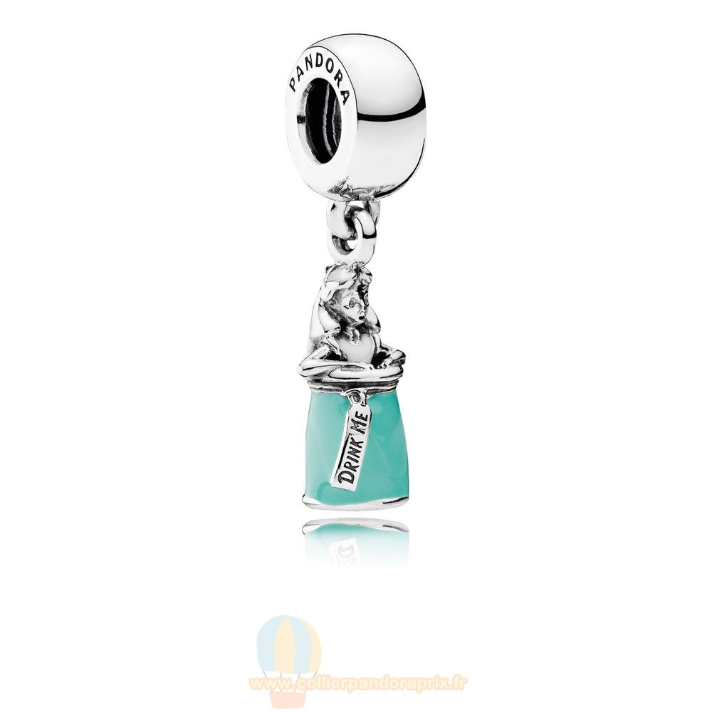 Populaire Pandora Disney Magie D'Alice Potion Dangle Charm Mixed Enamel