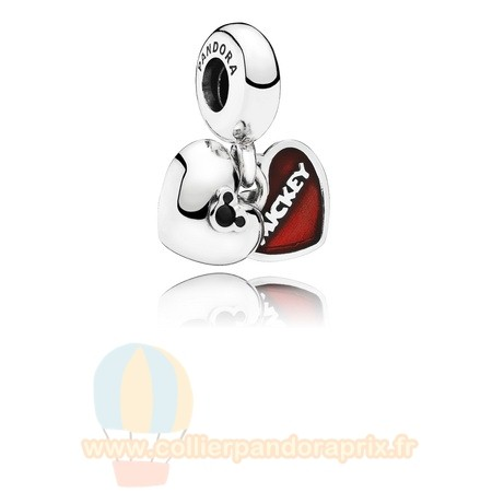 Populaire Pandora Disney Mickey Minnie Dangle Red Enamel