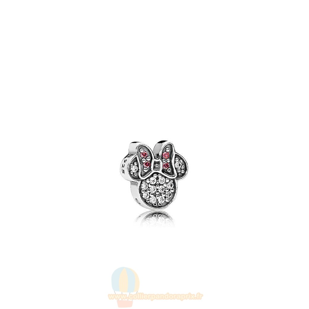 Populaire Pandora Pandora Disney Charms Mousseux Minnie Icon Petite Charm Red Clear Cz