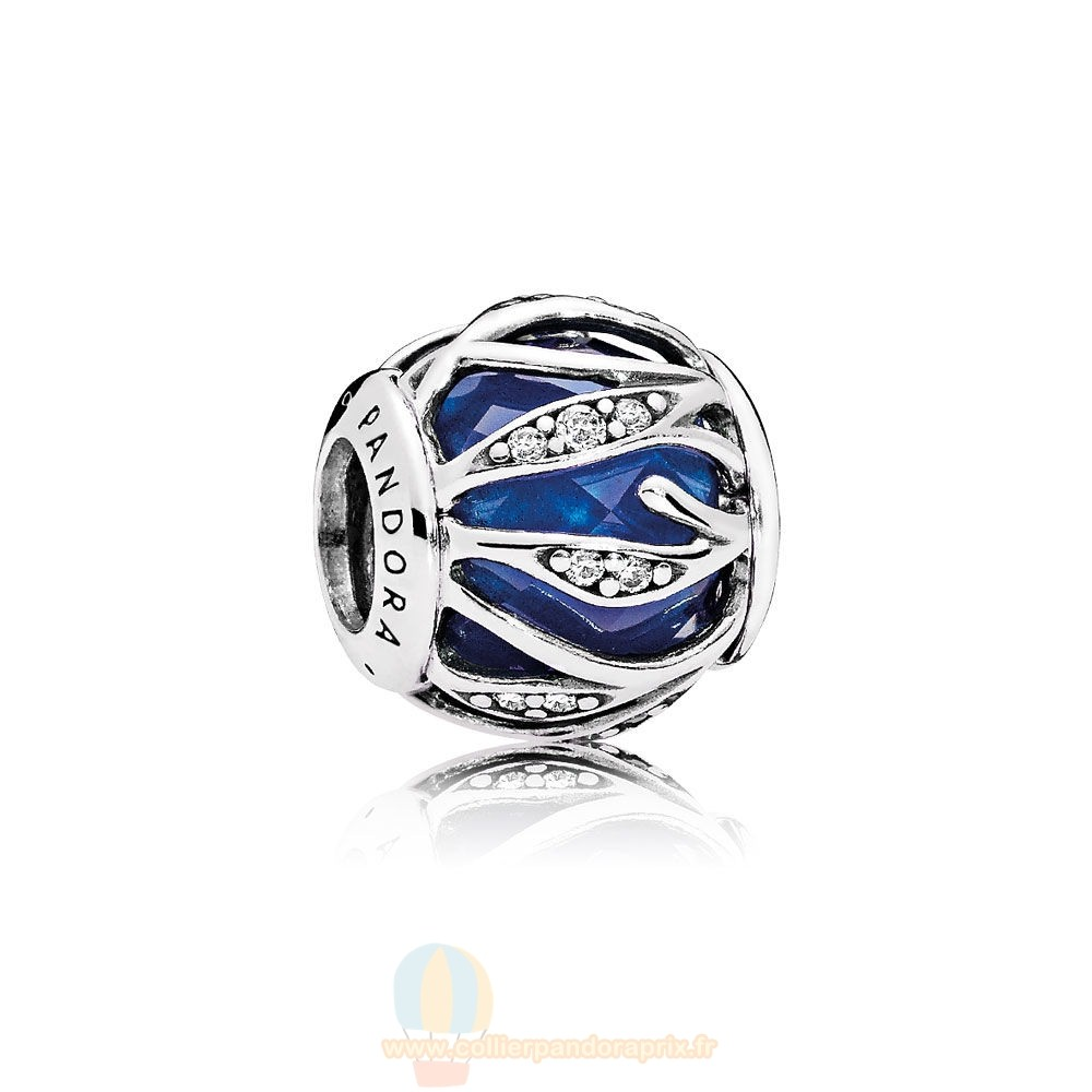 Populaire Pandora Nature Breloques Nature'S Radiance Royal Blue Crystal Clear Cz Prix