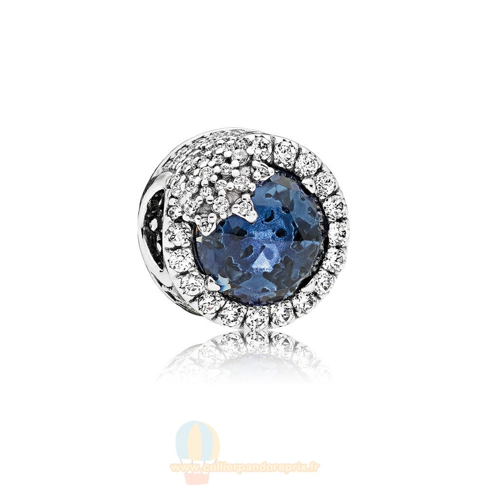 Populaire Pandora Nature Charms Dazzling Flocon De Neige Twilight Blue Cristaux Clear Cz