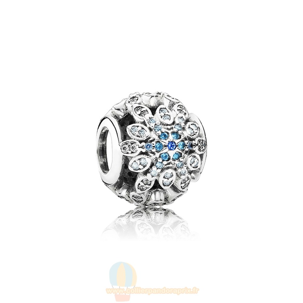 Populaire Pandora Pandora Nature Charms Crystalized Flocons De Neige Charm Blue Crystals Clear Cz