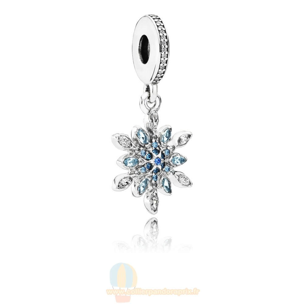 Populaire Pandora Pandora Nature Charms Crystalized Snowflake Dangle Charm Blue Crystals Clear Cz