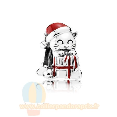 Populaire Pandora Pandora Fetes Charms Noel Noel Chaton Charme Berry Red Enamel