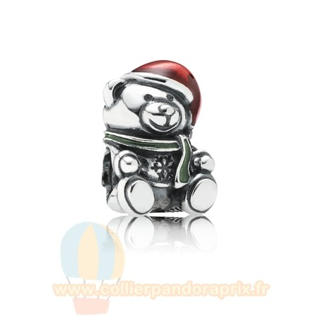 Populaire Pandora Pandora Fetes Charms Noel Noel Ours Charme Rouge Vert Email
