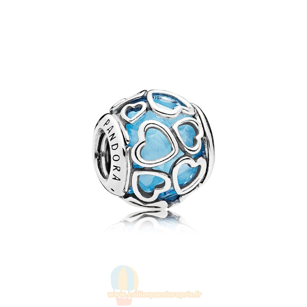 Populaire Pandora Pandora Paillettes Paves Charms Encased In Amour Charm Sky Blue Crystal