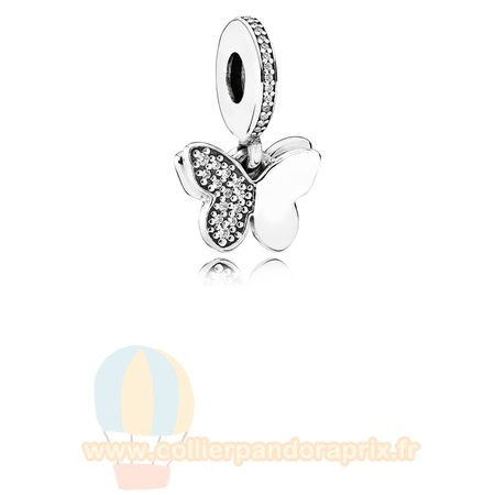 Populaire Pandora Pandora Paillettes Paves Charms Flottant Papillons Dangle Charm Clear Cz