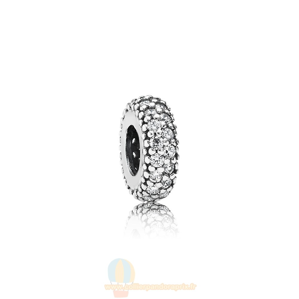 Populaire Pandora Pandora Paillettes Paves Charms Inspiration Dans Spacer Clear Cz